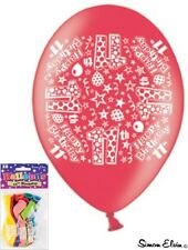 10 x assorted happy birthday party airfill balloons 11th to 80th