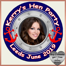 Personalised SAILOR Theme Hen Night Party STICKERS