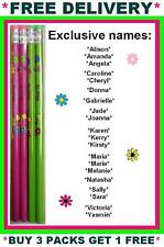 4 Personalised Pencils with Rubber on Each One for her
