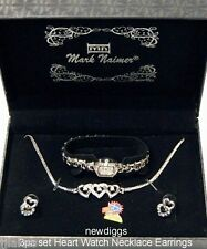 Womens 3pc Gift Set Mark Naimer Watch Earrings Necklace