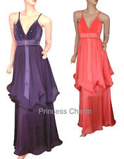 Princess Charm Purple Coral Formal Evening Dress Size 10 12 14 16 18 20 22 New