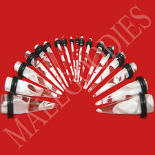 V056 Clear Marble Stretchers Tapers Expenders 00G Gauge