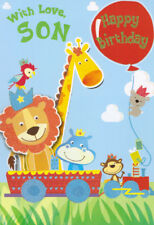 cute son happy birthday card - take your pick!
