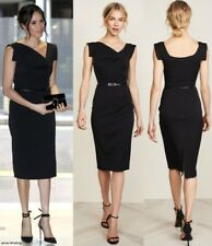 BLACK HALO Jackie O Belted Sheath Hollywood Celebrity Black Dress 0 2 4 6 8 10