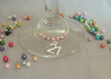 Wine Glass/Champagne Charms, Age,16, 18, 21, 30, 40, 50