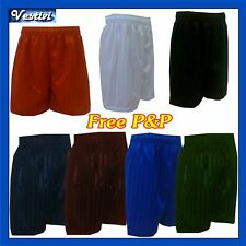 PE Football Boys Girls Shaded Stripe Shorts FREE P&P
