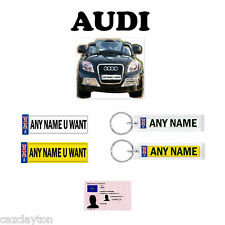 "NUMBER PLATE GIFT PACK FOR KIDS RIDE ON CARS  ""AUDI"""
