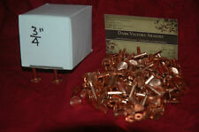 Copper Rivets & Burrs #9 - 1 Pound Pack SCA size choice - Many options