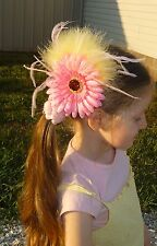 Feather Flower Hair Clip Fascinator Lapel Pin Brooch!