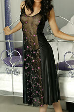 Tricot and Floral EMB Lace Long Plus Size Gown #FLPLN