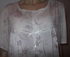 Large Sized Short Sleeve Floral  Cotton/Jersey Nightdress sizes 26-34