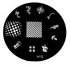 H Series Nail Art Image Stamp Template Stamping Plate 1