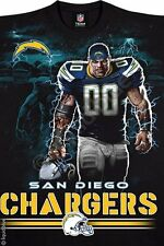 NFL Sports Team Fan Shirts San Diego Chargers Game Tee Player Football T-Shirt