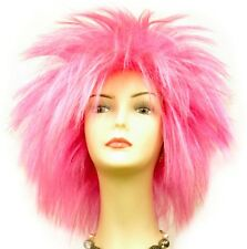 Halloween Costume Wig B day Party Hair Red/Pink/Orange/Yellow/Purple/Green/Blue