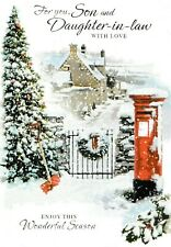 traditional SON AND DAUGHTER-IN-LAW christmas card - 7 x cards to choose from!