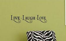 Live Laugh Love Vinyl Wall Decal Quote Lettering Art