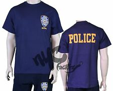 NYPD NAVY BLUE POLICE NEW YORK POLICE DEPARTMENT BACK T-SHIRT TEE MEN UNISEX NEW