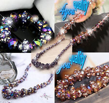 Sparkling Crystal Fashion Jewellery Necklace Bracelet For Womens Ladies Girls