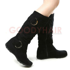 Womens Shoes Knee High Faux Suede Flat Boots