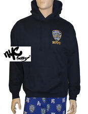 NYPD NEW YORK POLICE DEPARTMENT NAVY EMBROIDERED HOODIE LONG SLEEVE MEN UNISEX