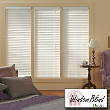 "Window Blind Outlet Premium Faux Wood Blinds 37 - 42""W x 61 - 89""L FREE Shipping"
