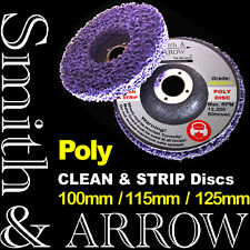 """10 x 125mm 5"""" POLY STRIP DISC WHEEL PAINT RUST REMOVAL CLEAN ANGLE GRINDER METAL"""