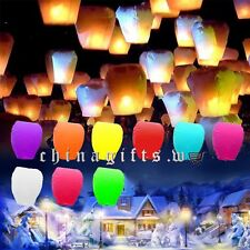 Multi-color Paper Chinese Kongming Lanterns Sky Fire Fly Candle Lamp Wish Party