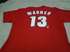 BILLY WANGER # 13 PHILDELPHIA PHILLIES RETRO  PLAYER NAME AND NUMBER TEE SHIRT
