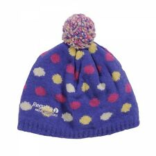 Regatta Kid's 'Dot2Dot' Purple Winter and Ski Wear Beanie Hat.