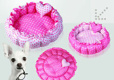 100% Cotton Pink Double-Side Round Dog Cat Pet Bed House