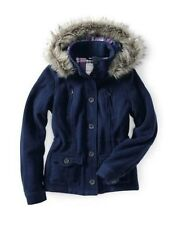 AEROPOSTALE AERO WINTER HOODED WOOL ANORAK COAT JACKET  XS,S,M  NAVY NEW NWT