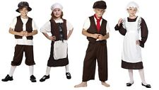 TUDOR / VICTORIAN COSTUME,CHILDS/BOYS/GIRLS,URCHIN HAT,APRON,MOB,CAP FANCY DRESS