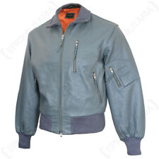 German Grey LEATHER PILOTS Flight Jacket - Repro All Sizes Military Flying Coat