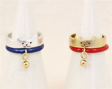 Vintage style antique style cat ring, different designs and colours