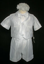 baby Toddler Boy Christening Baptism Gown Outfit suit size XS S M L XL 2T 3T 4T