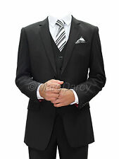 MENS 3PC BLACK LYCRA SUIT IDEAL FOR WEDDINGS,SCHOOL PROMS AND OFFICE WEAR