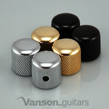 2 x NEW Vanson Rounded Screw Knobs for 'TL' guitar, Chrome, Black or Gold, VS002