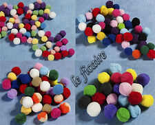 U PICK SIZE~ Fluffy Pom-Pons Pompoms Pom Poms X'mas Assorted Colors Pack #7970