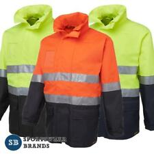 Hi Vis Safety Workwear Long Line Jacket 3M Tape Waterproof Sizes S - 5XL 6DNLL