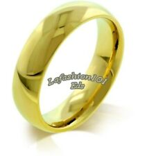 5MM MENS/WOMENS IPG Gold STAINLESS STEEL WEDDING BAND RING SIZE 5-10