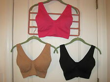 Rhonda Shear AHH Bra with INSERTS / PADS XS, S, M, L or XL Nude, Pink or Black