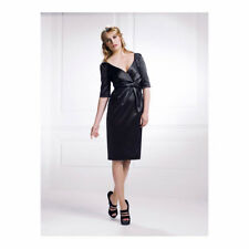BNWT Holly Willoughby Folded Front Black Evening Dress 8 PARTY/FORMAL Designer