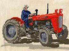 Massey Ferguson 35X, Fordson E27N, Nuffield tractor cross stitch kit 14s