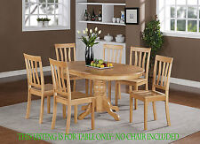 """OVAL BERLIN DINETTE KITCHEN DINING ROOM TABLE 42""""x 60"""" WITH 18"""" BUTTERFLY LEAF"""