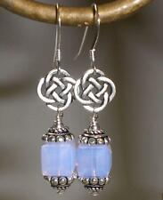 Crystal Violet Opal Celtic Sterling Silver Earrings Made With Swarovski Elements