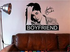 JUSTIN BIEBER  BOYFRIEND WALL QUOTE vinyl art sticker bedroom girls SIGNATURE