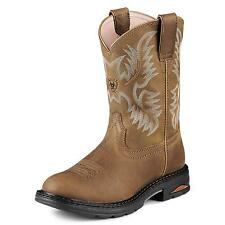 Ariat Women's Safety Tracey Pull-on Composite Toe Work Boots Brown 10008634