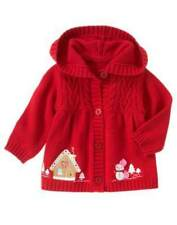 NWT GYMBOREE COZY CUTIE GINGERBREAD HOUSE SWEATER HOODIE