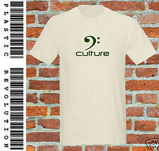 BASS CULTURE T-SHIRT ALL SIZES, SHIRT + PRINT COLS  (Guitar Reggae Dubstep Rave)