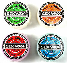 Mr Zogs Sex Wax Original Surfboard Wax Block. Cold, Cool, Warm OR Tropical